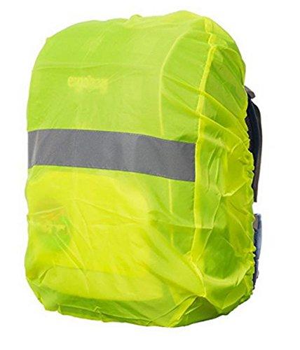 Reflektierender 100% wasserfester Rucksack Regenschutz 20L-40L   Regenhülle für Rucksack Regenschutz für Schulranzen Regencover neon Regenabdeckung Regenüberzug Reflektorüberzug wasserdicht