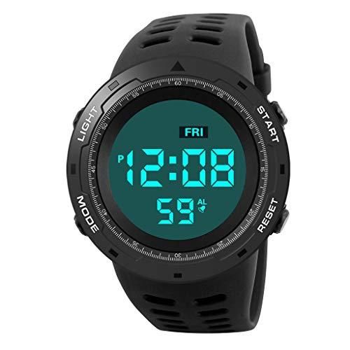 Javpoo Fashion Waterproof Men 's Boy LCD Digital Stopwatch