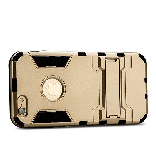 iPhone 6 Plus DUPLEXSCHUTZEN hochwertige Silikon Hülle Jisoncase Apple iPhone 6 Plus TPU Case Schutzhülle Cover Etui Handyhülle gold Lbt-I6L-19P84 gold