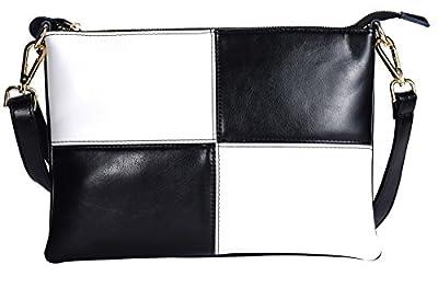 DCCN Sac Bandoulière en PU cuir Femme Petite Sac porté épaule Pochette Rétro Vintage Besace Messenger