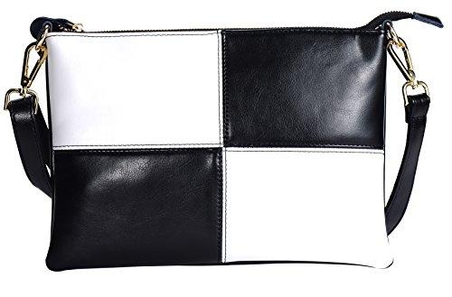 DCCN Damen Clutch Handtasche Abendtasche mit Schulterriehmen Weiß 1100 Handy
