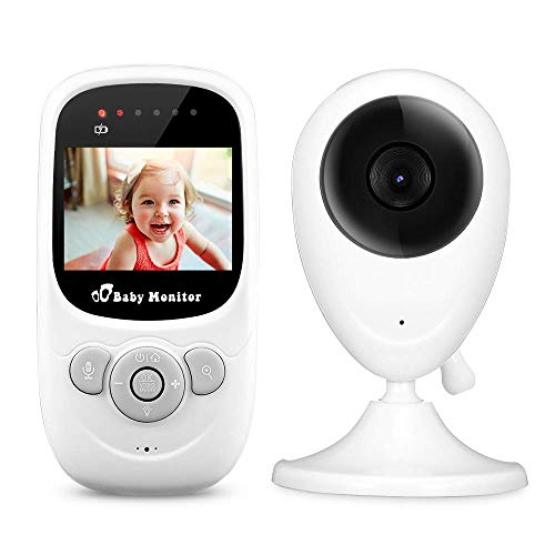 iLifeSmart SP880 Babyphone Video Baby Monitor with Camera 2.4 Inch LCD Display mit Intercom Function, Night Vision, Temperature Sensor, Lullaby