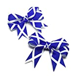 Scotland Flag Saltire Hair Bows Pack of 2, Handmade in Scotland with Love.