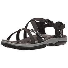 Skechers Women's Reggae Slim-Vacay-40955 Sling Back Sandals, Black (Black Blk), 5 UK 38 EU