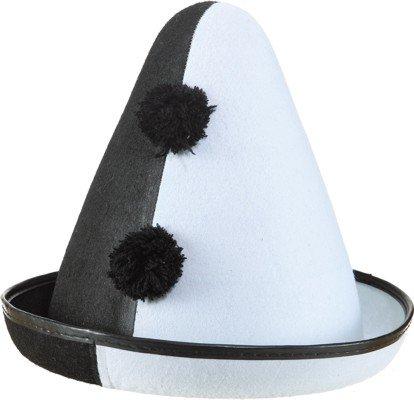 Orlob Faschingshut Pierro Hut - Clown schwarz-weiß KW 59 - 23782