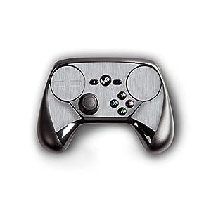 atFoliX Skin kompatibel mit Steam Controller, Designfolie Sticker (FX-Brushed-Alu), Gebürstet / Bürsten-Struktur