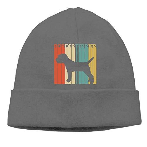 LJKHas232 Men's&Women's Vintage Border Terrier Dog Soft Skull Beanie Cap -
