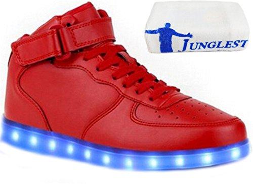 (present: Pequena Toalha) Junglest® Meninos Meninas Sapatos De Couro Da Sapatilha C9 Brilhante Cor Mudança De Fluorescência Sneakers Schu