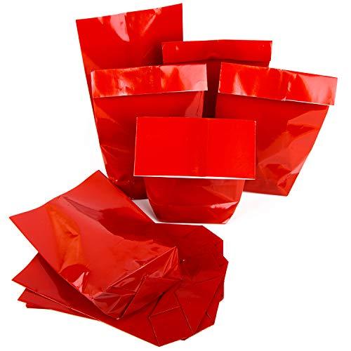 Sacchetti di carta per regali di natale, 14 x 22 x 5,5 cm, colore: rosso 25 pezzi rot