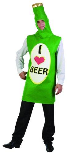 Bierflasche Kostüm Grüne - KULTFAKTOR GmbH Bierflaschen-Kostüm I Love Beer grün-bunt Einheitsgröße (42)