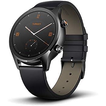 Ticwatch Montre connectée Mobvoi C2, Smartwatch Classique sous Google Wear OS, Indice IP68, Résistante à leau et à la Sueur, Google Pay, Compatible avec ...