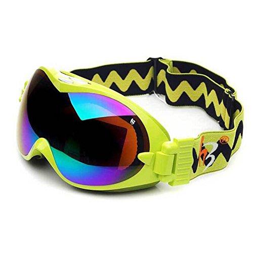 Outdoor Skifahren Motorrad Gläser Anti Fog Gläser Nut Doppel Deck Brillenlinse Mode Sphärische Okular , Green , w3