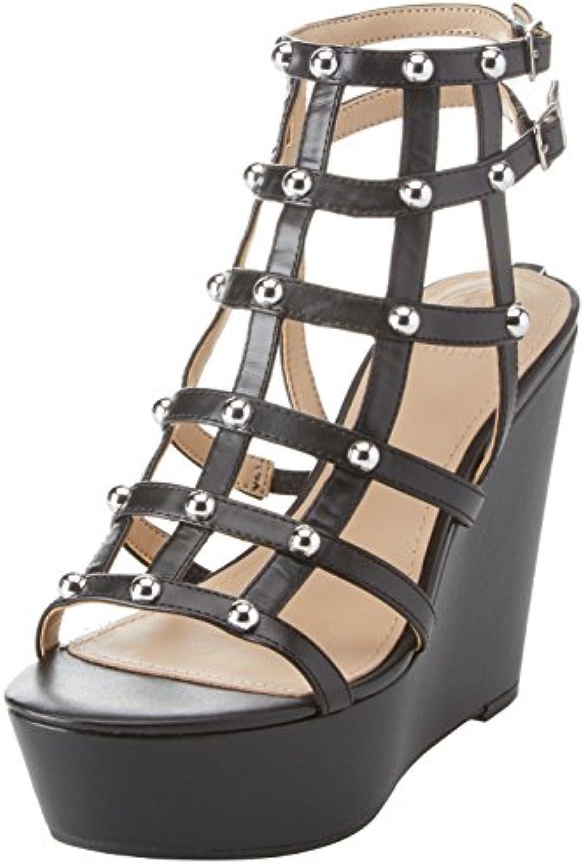 Guess Damen Footwear Dress Sandal Plateaupumps Schwarz 37 EU