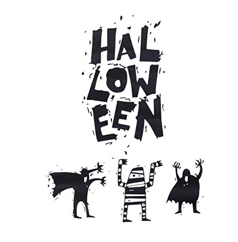 1Pcs Wall Sticker Pvc Creative Witch Background Halloween Letters Wall Stickers For Decor Window Living Room Bedroom (Backgrounds Phone Halloween)