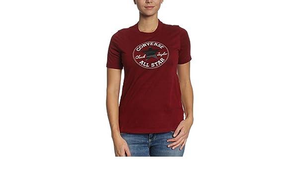Tee Shirt Converse Core Solid Chuck Patch Bordeaux Femme