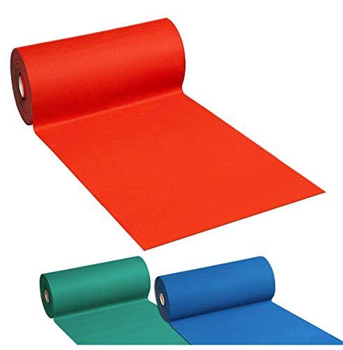 Arrediamoinsieme-nelweb tappeto moquette passatoia disponibile in 3 colori verde rossa blu retro antiscivolo larghezza 100cm vendita al metro 100% made in italy (blu)