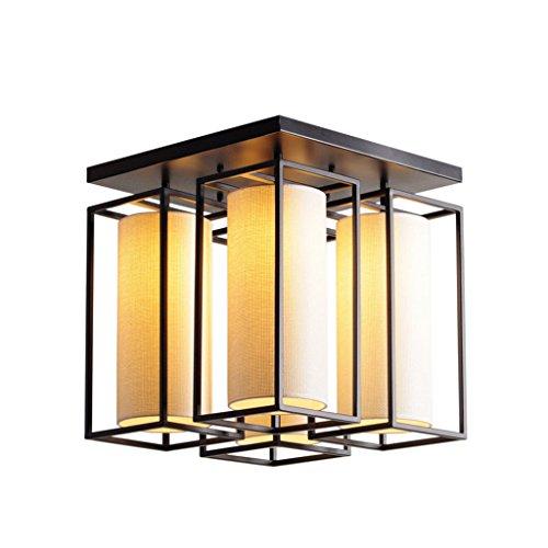 Ceiling light.W WCUI Bügeleisen Decke, Creative Schlafzimmer Deckenleuchte Wohnzimmer Restaurant Lampen 4-6 Kopf E27 Stoff Decke Wählen (größe : 43 * 43 * 45cm) -