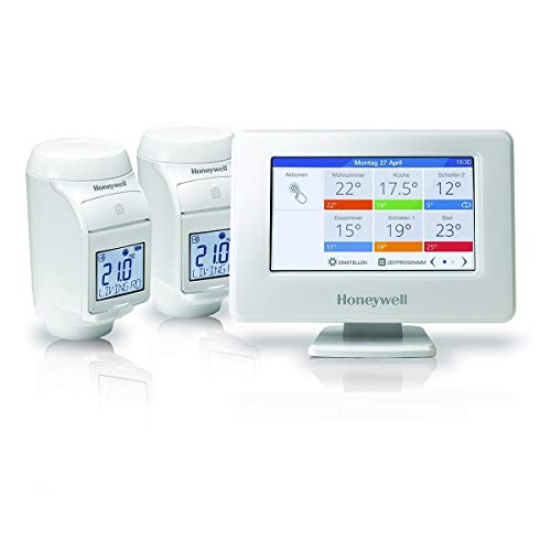 Honeywell THR99C3102 - Sistema di regolazione Evohome Wi-Fi senza fili, Kit di base, Bianco