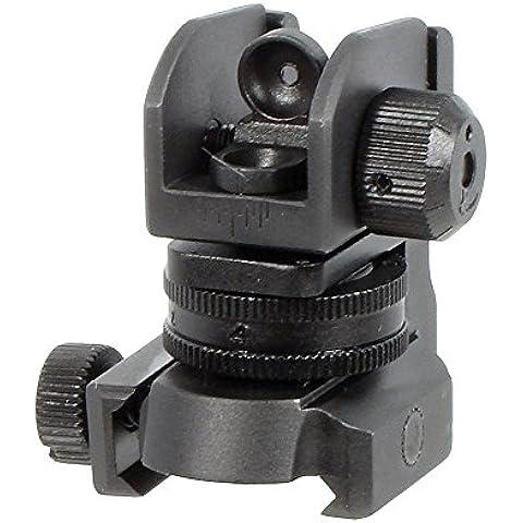 Utg mil-spec compiacente compatta a2 vista posteriore gamma completa w/e adj. - Gamma Vista
