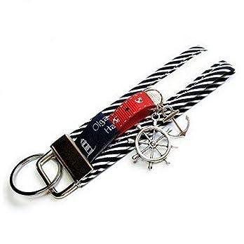 Schlüsselanhänger maritim Anker, Steuerrad, Geschenk