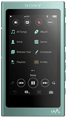 Sony NW-A45R High Resolution Walkman MP3 Player (16GB, Touchscreen, Digitalverstärker, Bluetooth, NFC, Hi-Res, bis zu 45h Akku) grün