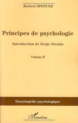 Principes de psychologie : Tome 2
