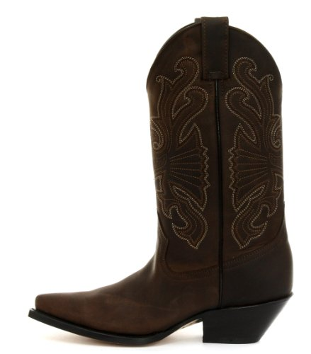 Grinders Buffalo Braun Homme Cowboy Bottes Dark Brown