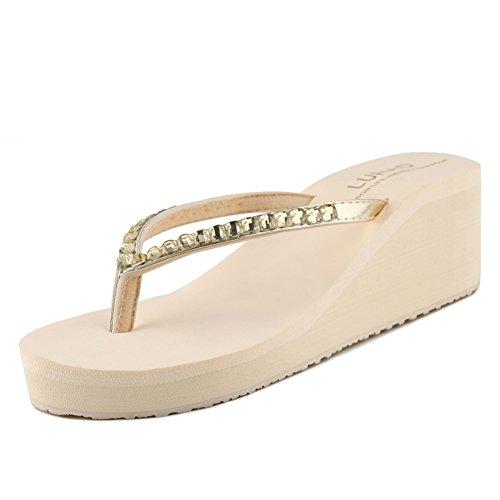 Pendio di spessore del diamante con la parola pantofole/Sandali antisdrucciolo donna estate D