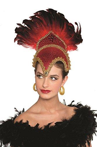 Tänzerin Brasilien Rio Kopfschmuck Brasilianerin Samba Federkopfschmuck (grün) (Brasilianischen Karneval Kostüm Namen)