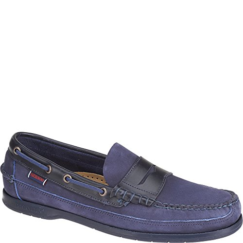 Sebago SLOOP Herren Slipper Navy Nubuck/Leather 5cKoZ