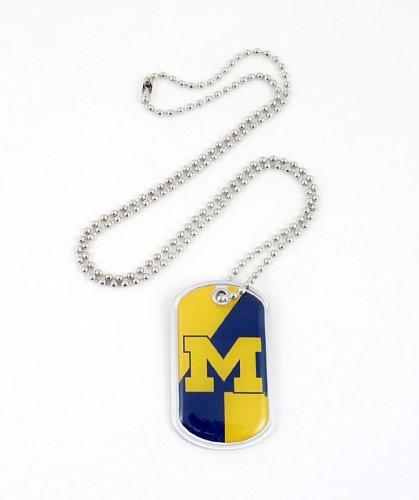 aminco NCAA Michigan Wolverines Dynamic Dog Tag, Damen, Mehrfarbig