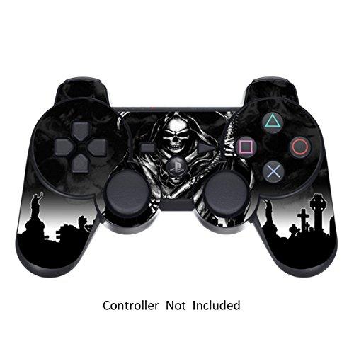 Sony PS3 Controller Sticker - Aufkleber Schutzfolie Skin für Playstation DualShock 3 Wireless Controller - Reaper Black