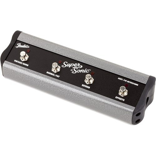 Fender 007-8324-000 4-Button Footswitch: Amp Voicing, Channel, FX Loop Bypass, Reverb (No Cable)