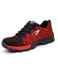 Ali-Tone Mujer Hombre Zapatillas de Seguridad Deportivos con Puntera de Acero Zapatos de Trabajo Entrenador Unisex Zapatillas de