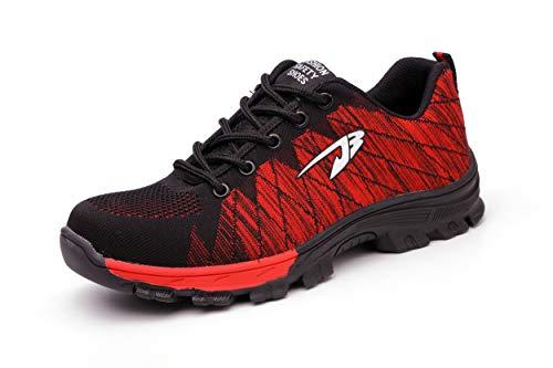 Detalles de Skechers Hobbes Zapatillas de Hombre sin Cordones Calzado de Seguridad Negro
