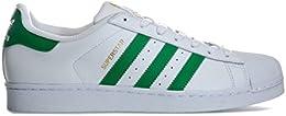 adidas Superstar, Scarpe da Ginnastica Uomo, Bianco (Ftwbla/Verde/Dormet)