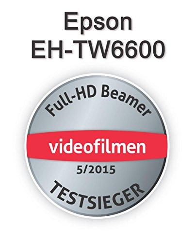 Bild 23: Epson EH-TW6100 3D Heimkino 3LCD-Projektor (Full HD 1080p, 2.300 Lumen Weiß & Farbhelligkeit, 40.000:1 Kontrast, 2x HDMI (1x MHL), inkl. 1x 3D Brille) schwarz