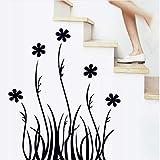 Yirenfeng Autocollant Stickers Muraux Gazon Noir Silhouette De Salon, Décor À La Maison