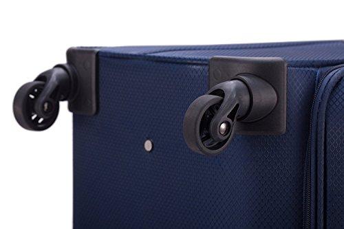 HAUPTSTADTKOFFER® 33 Liter (ca. 50 x 35 x 19 cm) Weichgepäck · Handgepäck · MITTE LIGHT · in verschiedenen Farben (Lila) Blau