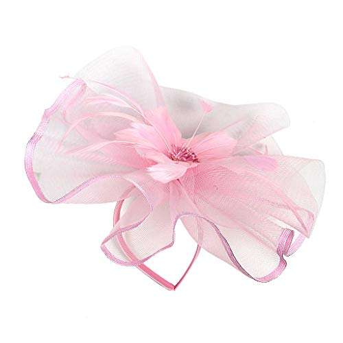 YWLINK Fascinators Hut Damen Cocktail Fascinator Haarreif Englische Tee Tanzparty Party Retro...