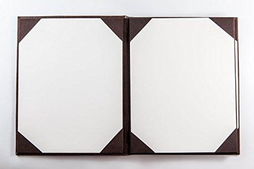 Speisekarten in Kunstleder (10er Pack) - A4 - 4 Einschübe - Braun
