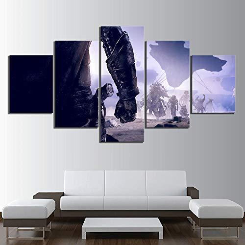 Mxsnow 5 Leinwanddrucke Rahmen Wandbilder Hd Spiele Kunstdruck Destiny 2 Videospiel Poster Leinwandbilder Gemälde Fantay Wandkunst Für Wohnkultur Drucke Auf Leinwand