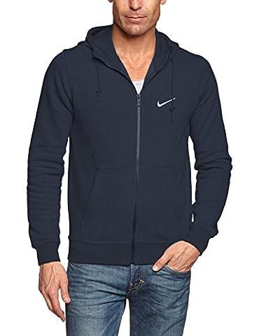 NIKE Veste à capuche Full Zip club pour homme - noir/blanc - XX-Large