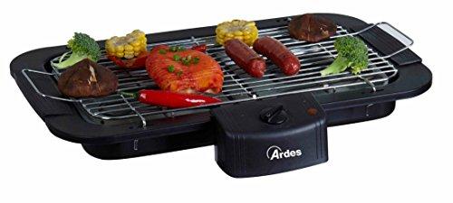 Ardes ar1b01- barbecue senza fumo elettrico portatile, regolazione temperatura, 2200 w, nero