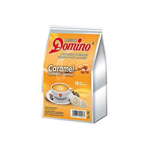 Original Domino Kaffeepads mit Karamellgeschmack - 18 Pads, 126g