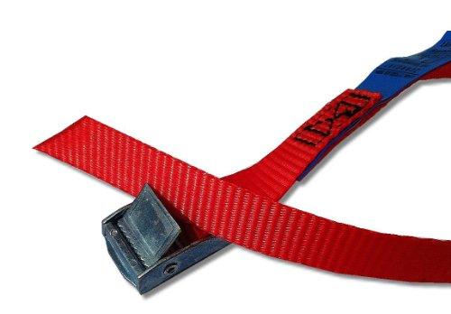 4x Befestigungsriemen ideal zur Befestigung am Fahrradträger , Klemschloss Gurte , Spanngurte , Farbe rot, iapyx®