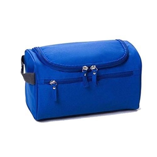 Beauty case da viaggio per lavare borsa grande per cosmetici, Rasatura Dopp Kit per uomini e donne Blue-11 26*13*14CM
