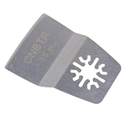 cnbtr Silber 52MM BREITE Edelstahl oszillierendes Werkzeug Universal Schaber Klinge Multi Tool, Silber