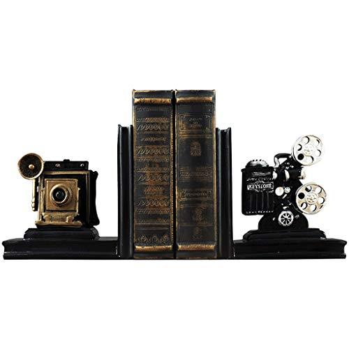 GLJJQMY Kreative filmprojektor bücherstütze Schreibtisch Studie Buch Stehen Clip Dekoration Verzierungen 20,5x12x16 cm Bücherregal