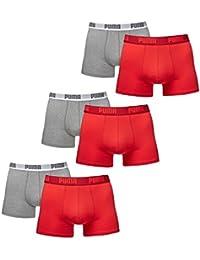 6 er Pack Puma Boxer Boxershorts Men Pant Underwear Red Grey size XXL